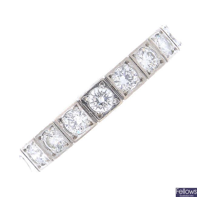 CARTIER - a diamond 'Lanieres' ring.