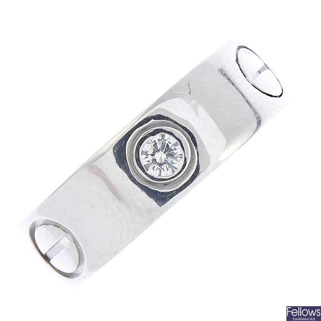CARTIER - a diamond 'Love' ring.