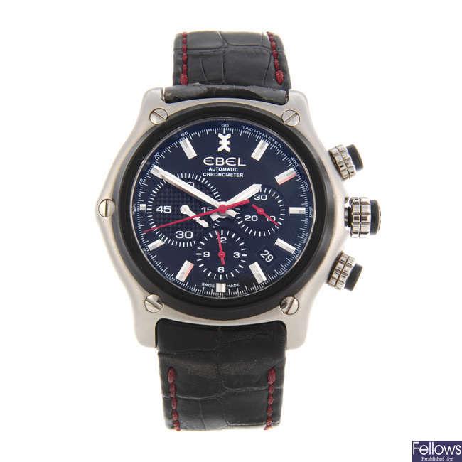 EBEL - a gentleman's bi-material 1911 BTR chronograph wrist watch.