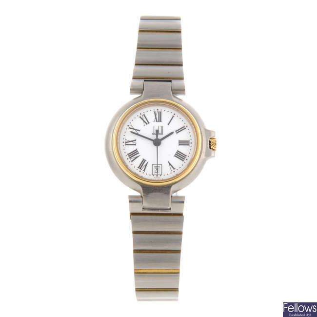DUNHILL - a lady's bi-colour Millennium bracelet watch.