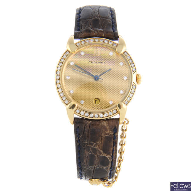 CHAUMET - a lady's 18ct yellow gold wrist watch.