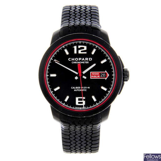 CHOPARD - a gentleman's DLC-coated stainless steel Mille Miglia GTS Speed Black wrist watch.