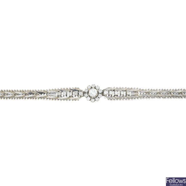 A 1970s diamond bracelet.