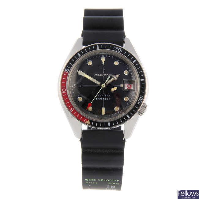 BULOVA - a gentleman's stainless steel Accutron Deep Sea 666ft wrist watch.