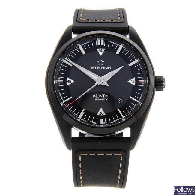 ETERNA - a gentleman's PVD-treated stainless steel KonTiki wrist watch.