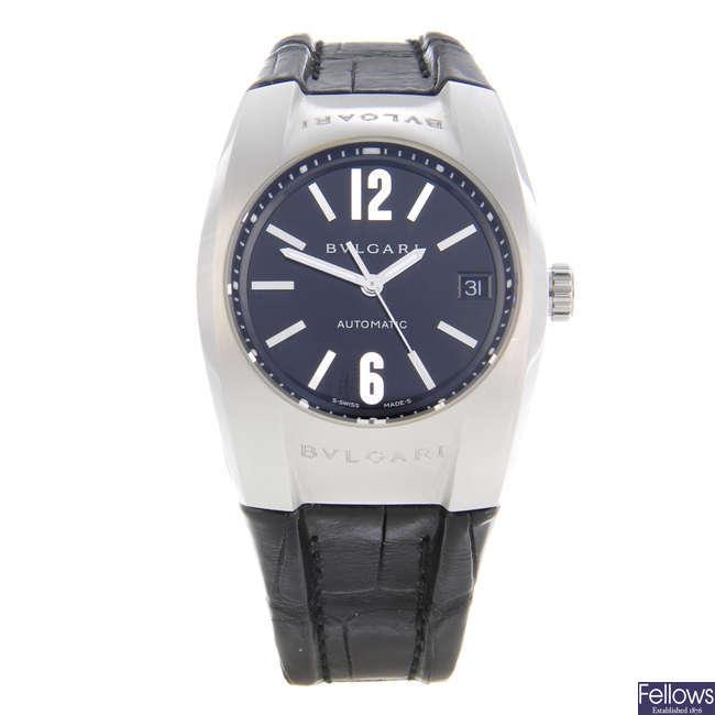 BULGARI - a stainless steel Ergon wrist watch.