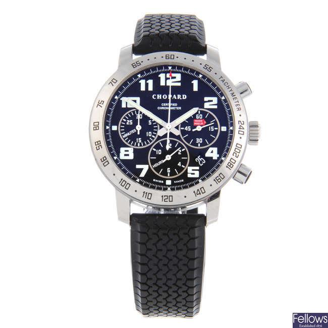 CHOPARD - a gentleman's stainless steel Mille Miglia chronograph wrist watch.