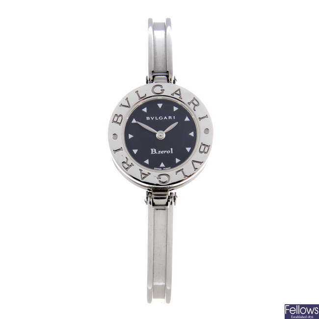 BULGARI - a lady's stainless steel B.zero1 bangle watch.