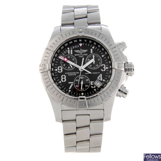 BREITLING - a gentleman's stainless steel Aeromarine Avenger Seawolf chronograph bracelet watch.
