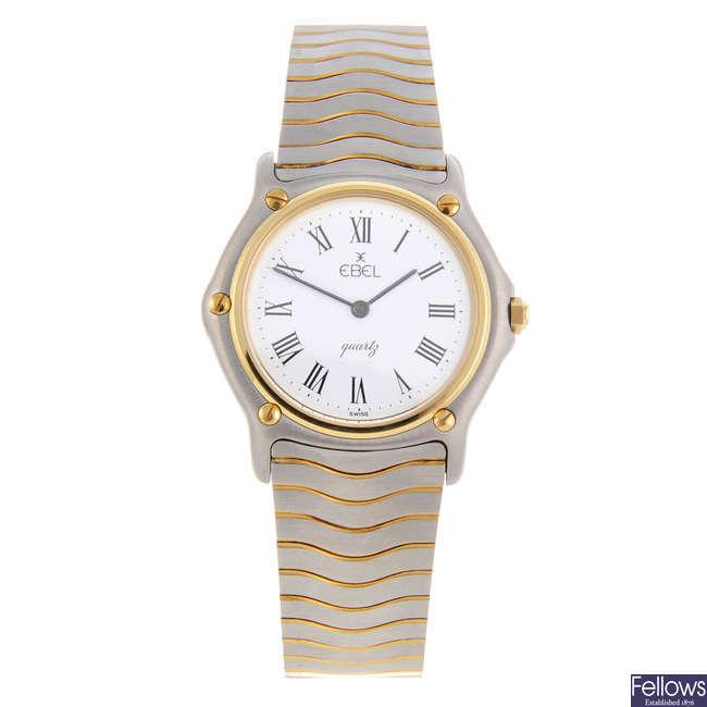 EBEL - a mid-size bi-metal Classic Wave bracelet watch.
