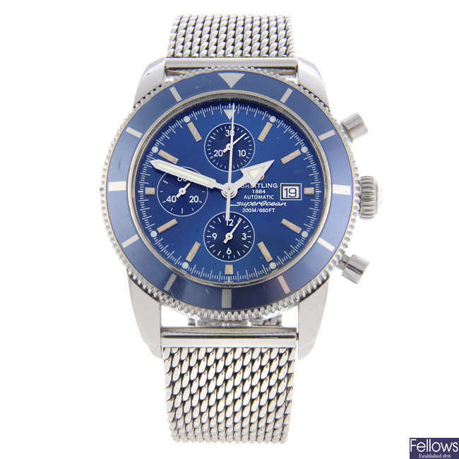 BREITLING - a gentleman's stainless steel SuperOcean Heritage Chrono 46 chronograph bracelet watch.