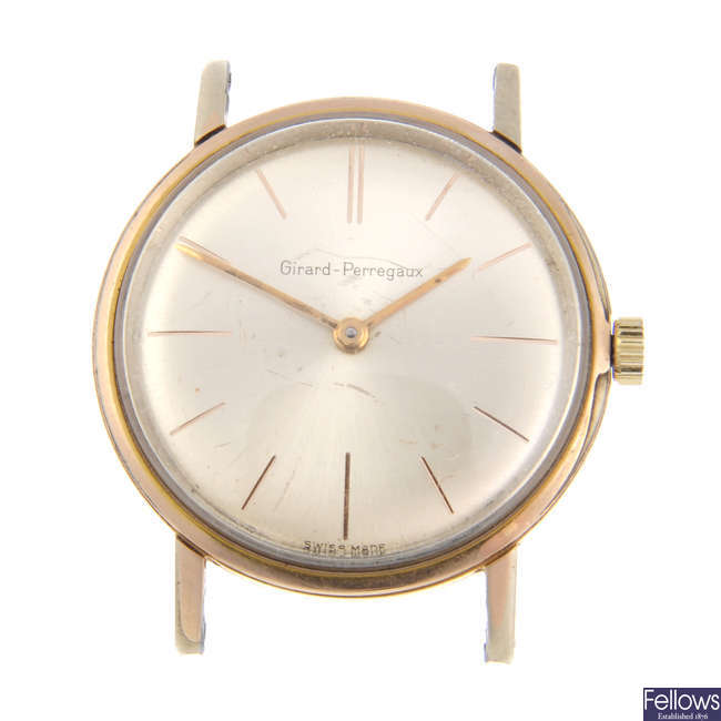 GIRARD-PERREGAUX - a gentleman's gold plated watch head.