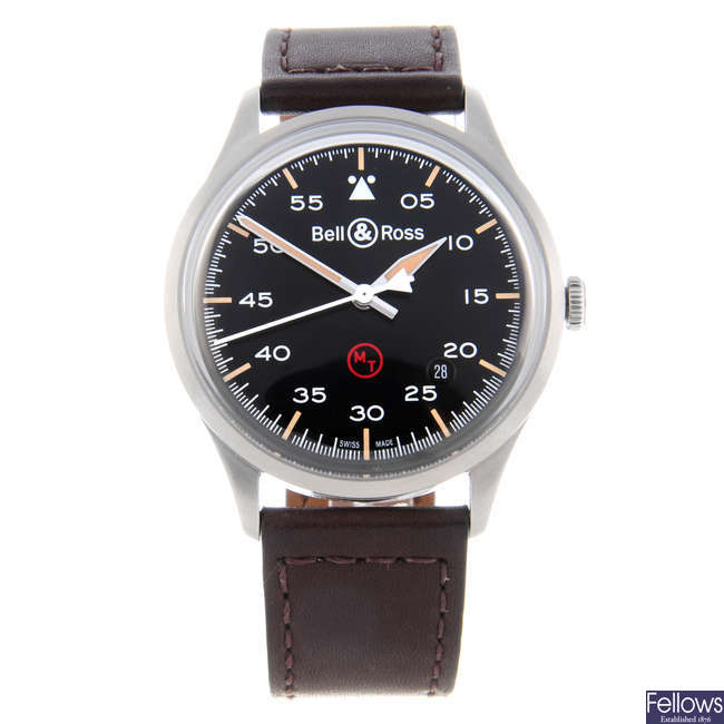 CURRENT MODEL: BELL & ROSS - a gentleman's stainless steel Vintage BRV1-92 Military wrist watch.