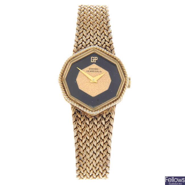 GIRARD-PERREGAUX - a lady's gold plated bracelet watch.