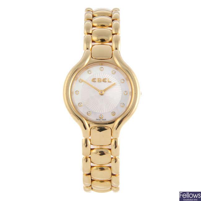 EBEL - a lady's 18ct yellow gold Beluga bracelet watch.