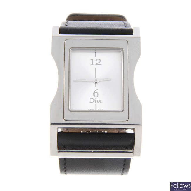 DIOR - a lady's stainless steel Chris 47 wrist watch.