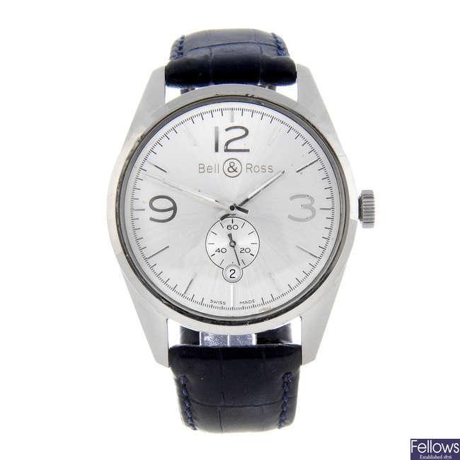 BELL & ROSS - a gentleman's stainless steel Vintage wrist watch.