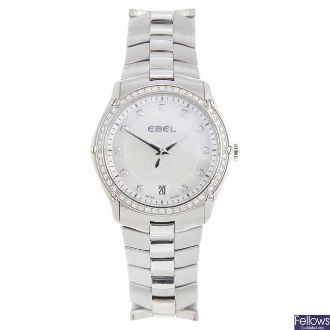 EBEL - a lady's stainless steel Classic Sport bracelet watch.