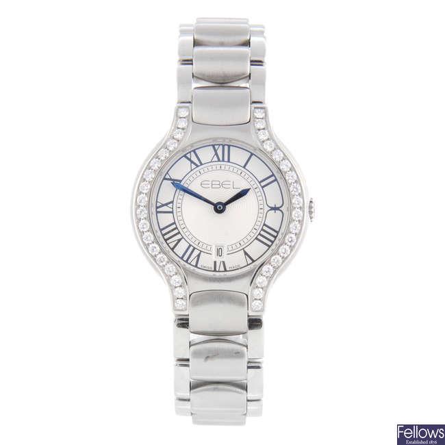EBEL - a lady's stainless steel Beluga bracelet watch.