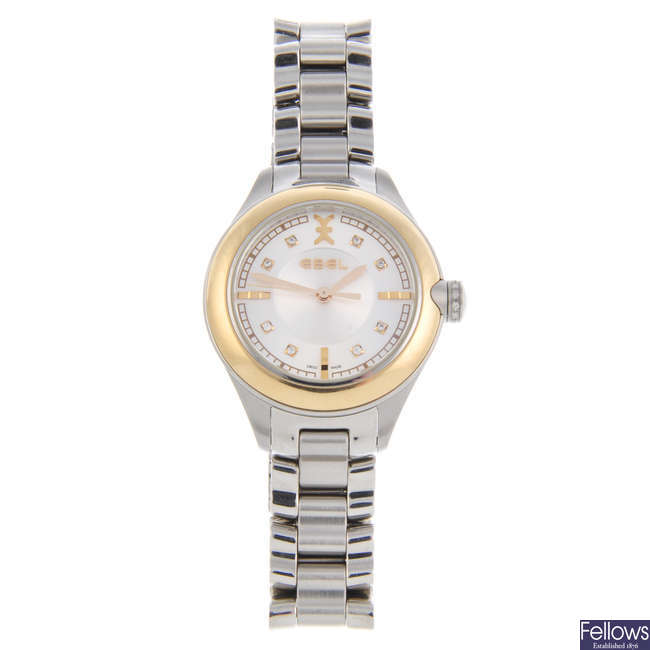 EBEL - a lady's bi-metal Onde bracelet watch with two lady's Ebel watches.