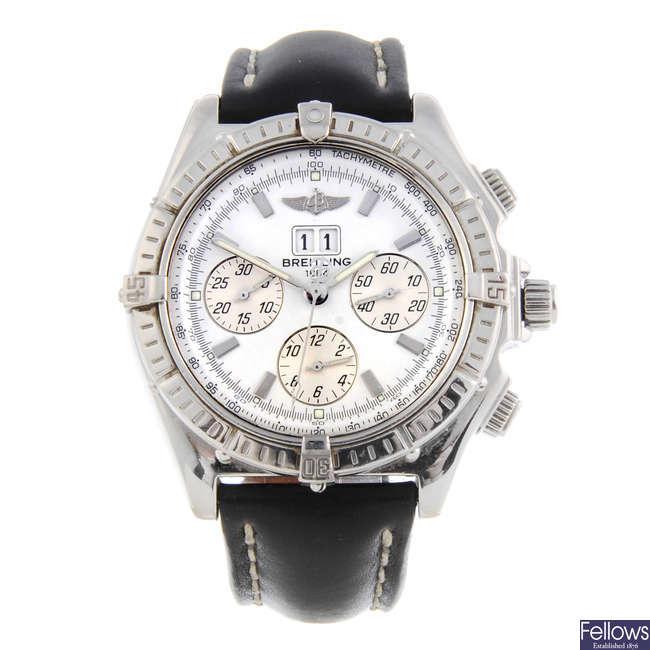 BREITLING - a gentleman's stainless steel Windrider Crosswind Special chronograph bracelet watch.