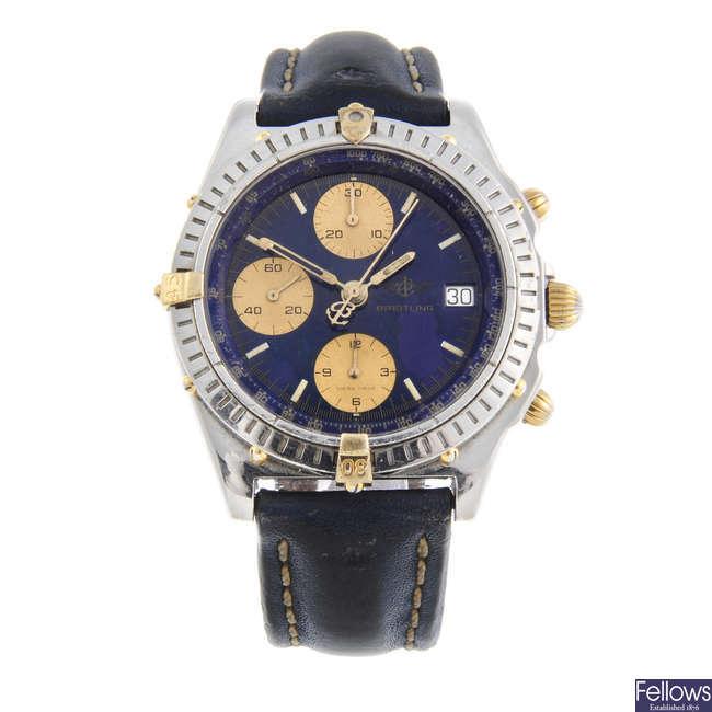 BREITLING - a gentleman's bi-metal Chronomat Vitesse chronograph wrist watch.