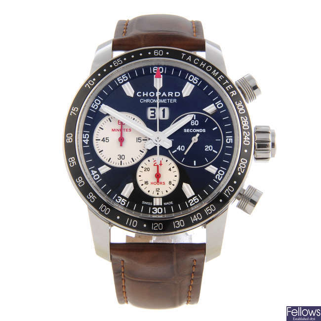 CHOPARD - a limited edition gentleman's stainless steel Mille Miglia