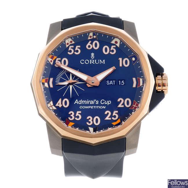 CORUM - a gentleman's bi-metal Admiral's Cup Competition 48 wrist watch.