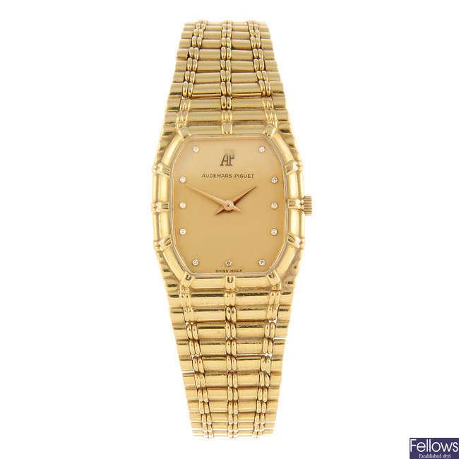 AUDEMARS PIGUET - a lady's 18ct yellow gold bracelet watch.