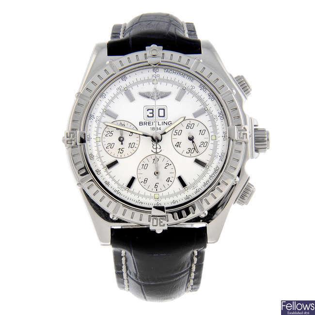 BREITLING - a gentleman's stainless steel Windrider Crosswind Special chronograph wrist watch.