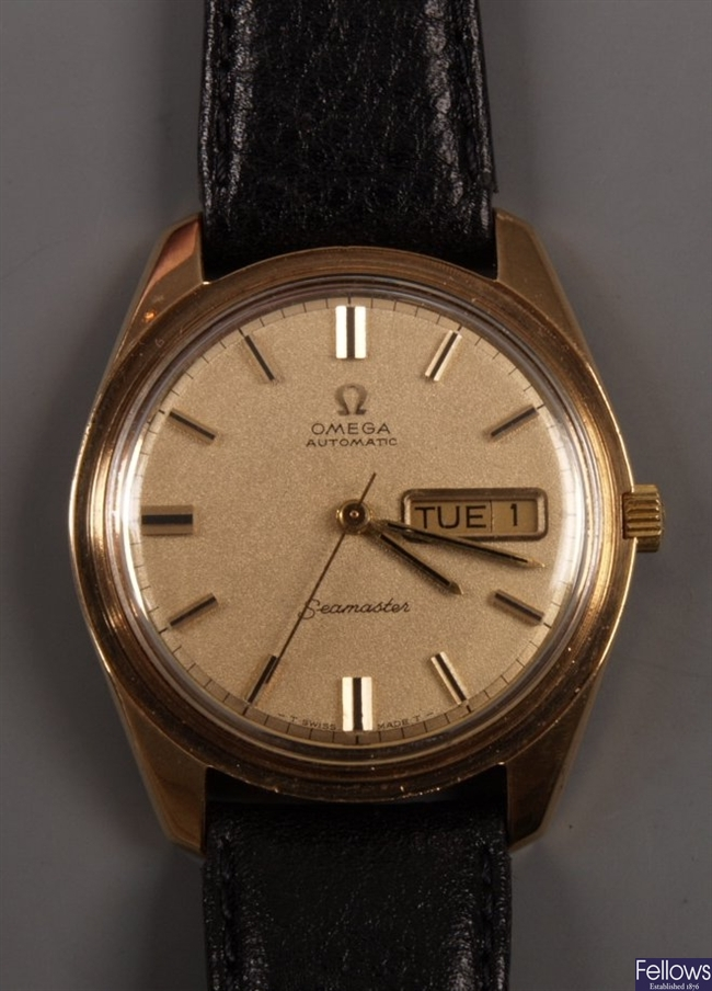 OMEGA - gentleman's 1970's 9ct gold Seamaster