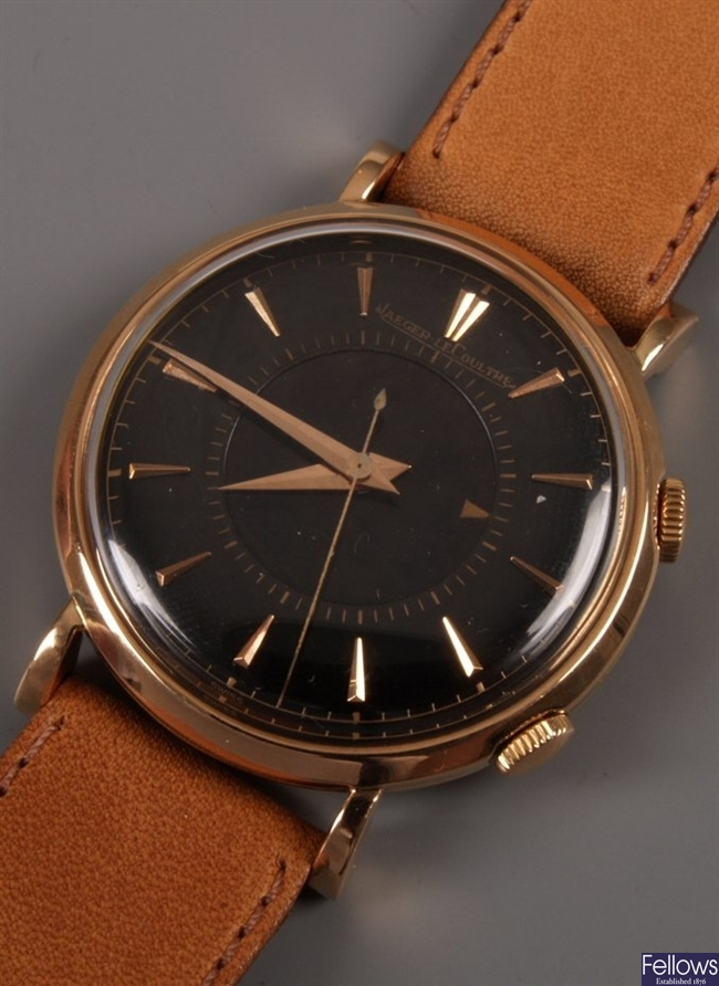 JAEGER LE COULTRE - gentleman's 18ct rose gold