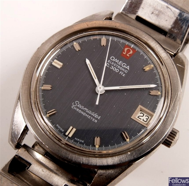 OMEGA - a gentleman's steel Electronic F300 with