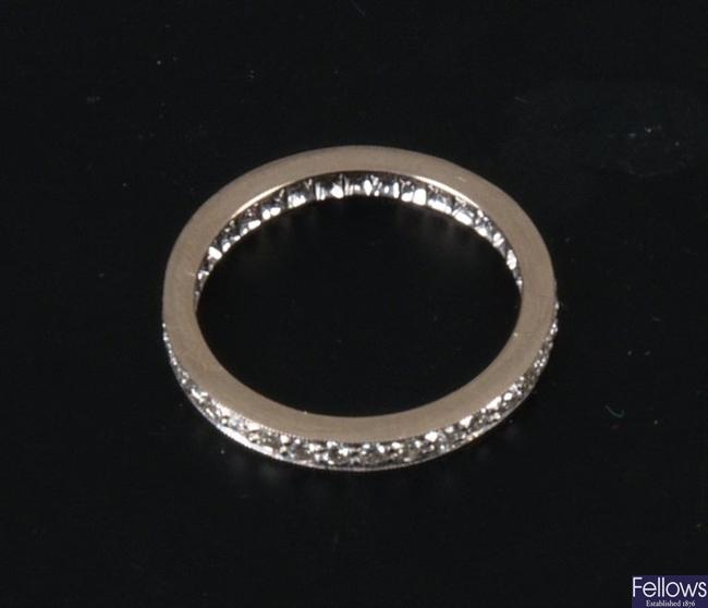 An all diamond full eternity ring - finger size m