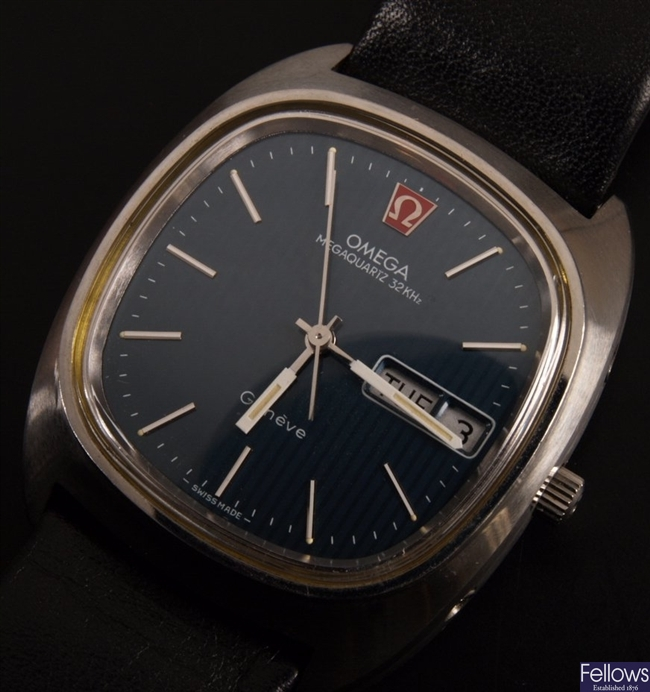 OMEGA - a gentleman's stainless steel Megaquartz