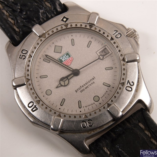 TAG HEUER - a gentleman's stainless steel