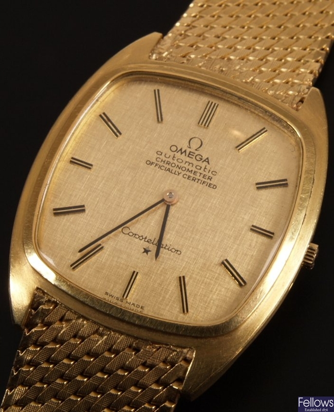 Omega 18ct gold gentleman's wristwatch with a