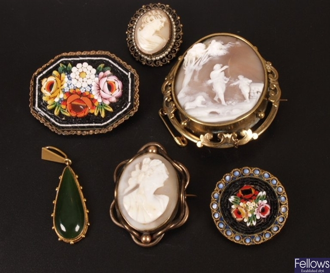A small collection of items, to include two oval