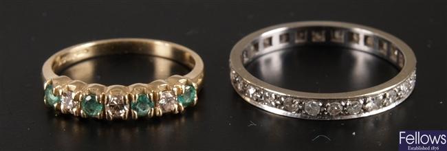 An all diamond full eternity ring - finger size N
