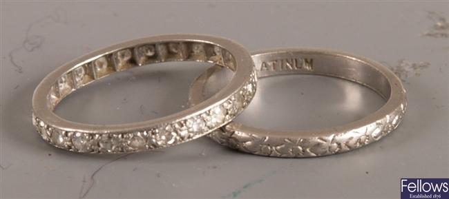 An all diamond full eternity ring (finger size