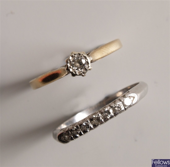 Two rings to include a platinum and iridium seven