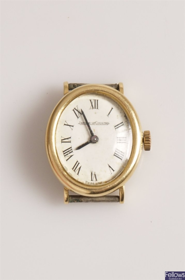 JAEGER-LECOULTRE - a ladies 18ct gold manual wind