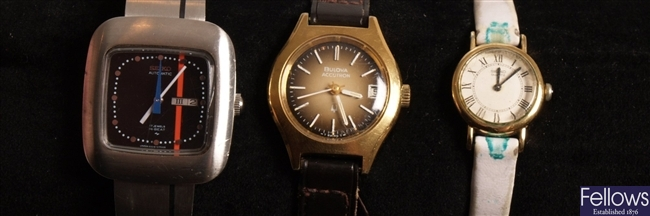 BULOVA - a gold plated Accutron with gold