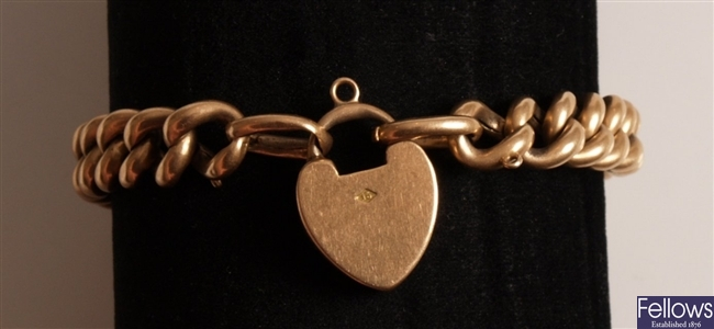 Victorian 15ct rose gold hollow curb link