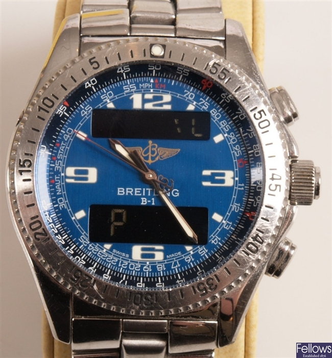BREITLING - a gentleman's stainless steel