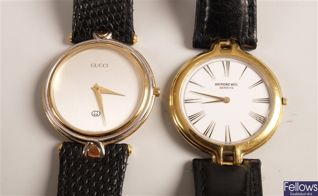 GUCCI - a gentleman's gold plated and steel