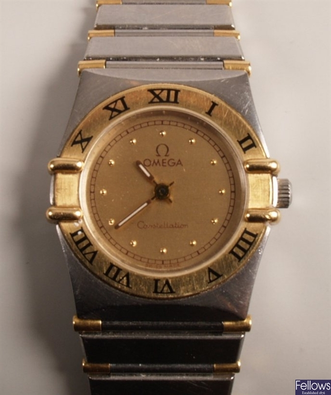 OMEGA - a ladies bi-colour stainless steel