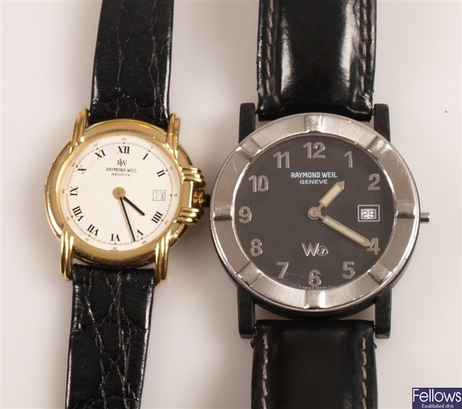 RAYMOND WEIL - five ladies and gentleman's gold