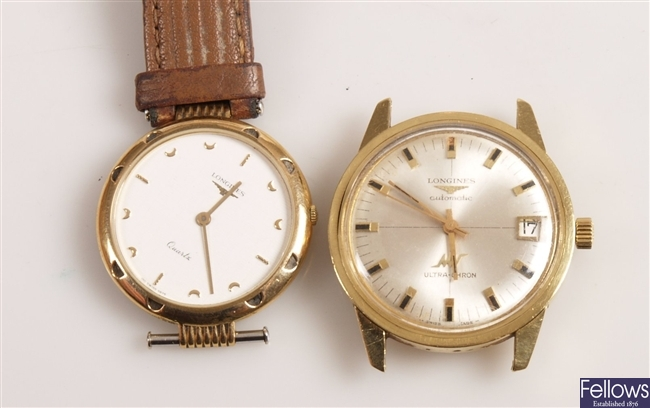 LONGINES - a gentleman's gold plated automatic