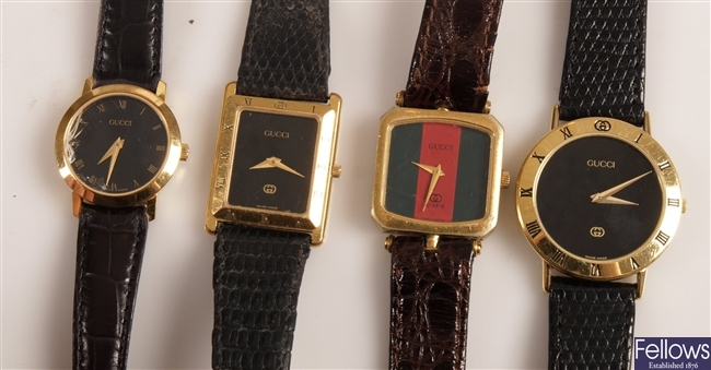 GUCCI - four assorted ladies and gentleman's